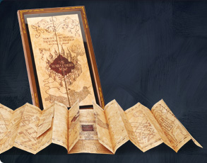 Die Karte des Rumtreibers inklusive Display